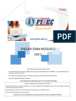 M5 Unit 1 Exam