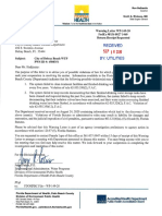 Dept. of Health warning letter to Delray Beach