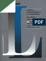 Varia lingüística y literaria 50 años del CELL  III. Literatura  siglos XIX y XX.pdf