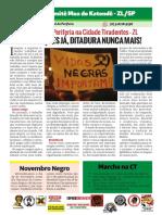 Panfleto Marcha da Periferia 2018