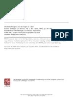 La Carta de Derechos y el Derecho al Trabajo
