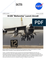 NASA Facts B-52B Mother Ship Launch Aircraft