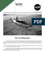 NASA Facts HL-10 Lifting Body 1995