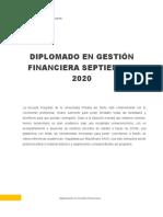 DIPLOMADO ONLINE -GESTIÓN FINANCIERA 2020 - 2