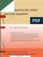 Conformación del estado nacional argentino