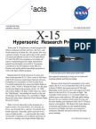 NASA Facts X-15 Hypersonic Research Program 1998