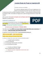 Consignes pour le modules Etude Projet
