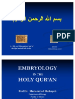 Embryology in the Holy Quran