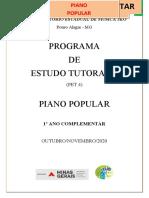 PET 7º ANO   - Piano Popular - VOL.IV