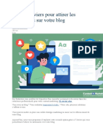 SEO  7 leviers pour attirer les internautes sur votre blog