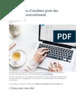 5 techniques d écriture pour des emails qui convertissent