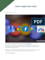 SEO  Le guide complet des outils Google