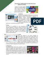 DIFERENTES PROGRAMAS O HERRAMIENTAS PARA REALIZAR PRESENTACIONES