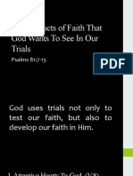 The Products of Faith That God Wants To