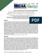 Análise de carbonatação e corrosão de aço em concreto autoadensável