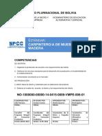Estandar Técnico de Carpintero de Muebles en Madera