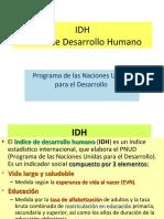 IDH Indice de Desarrollo Humano