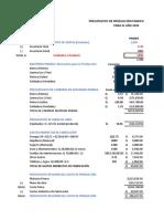 PRESUPUESTO PROD. EL CANARIO 2020.xlsx