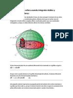 Volumen de una esfera usando integrales dobles y coordenadas polares