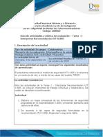 Guia de actividades y Rúbrica de evaluación - Unidad 1 - Tarea 1 - Interpretar