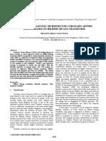 ANALYSIS OF DIASTOLIC MURMURS FOR CORONARY ARTERY DISEASEBASED ON HILBERT HUANG TRANSFORM
