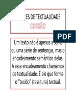 FATORES DE TEXTUALIDADE COESÃO POWER POINT