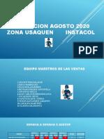 PLANEACION AGOSTO 2020 ZONA USAQUEN       INSTACOL