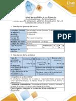 Guía de actividades y rubrica de evaluación-Tarea 2-Contexto del campo de acción