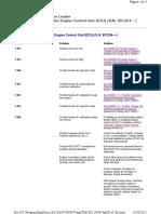 Diagnostic Trouble Codes Engine Control Unit (ECU) (S.N. 951254— )