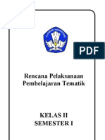 RPP KELAS II TEMA 2 PERISTIWA