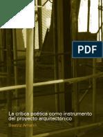 LA CRITICA POETICA COMO INSTRUMENTO DEL PROYECTO ARQUITECTONICO - BEATRIZ AMANN