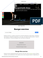 Buerger Exercises