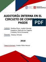 AUDITORÍA INTERNA EN EL CIRCUITO DE COMPRAS Y PAGOS