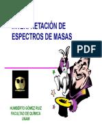 Interpretacion del espectro de masas