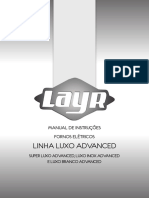 Manual Forno elétrico Layr