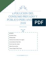 ANÁLISIS-EVOLUCIÓN DEL CONSUMO EN EL PERU 2010 2018