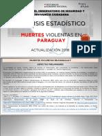 Análisis Estadístico de Muertes Violentas en Paraguay 2006-2018