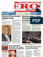 Prince George's County Afro-American Newspaper, January 29, 2011
