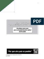 2006 - Plan de Gobierno Alianza PAIS