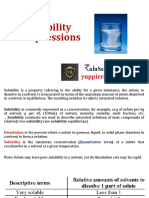 Solubility Expressions