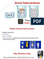 Solute Solvent Interactions PPI BPII -I