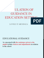 Simulation of Guidance in Education Setting