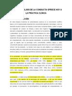 Lectura_Lo que el analisis de la conducta ofrece hoy a la práctica clínica - copia.doc