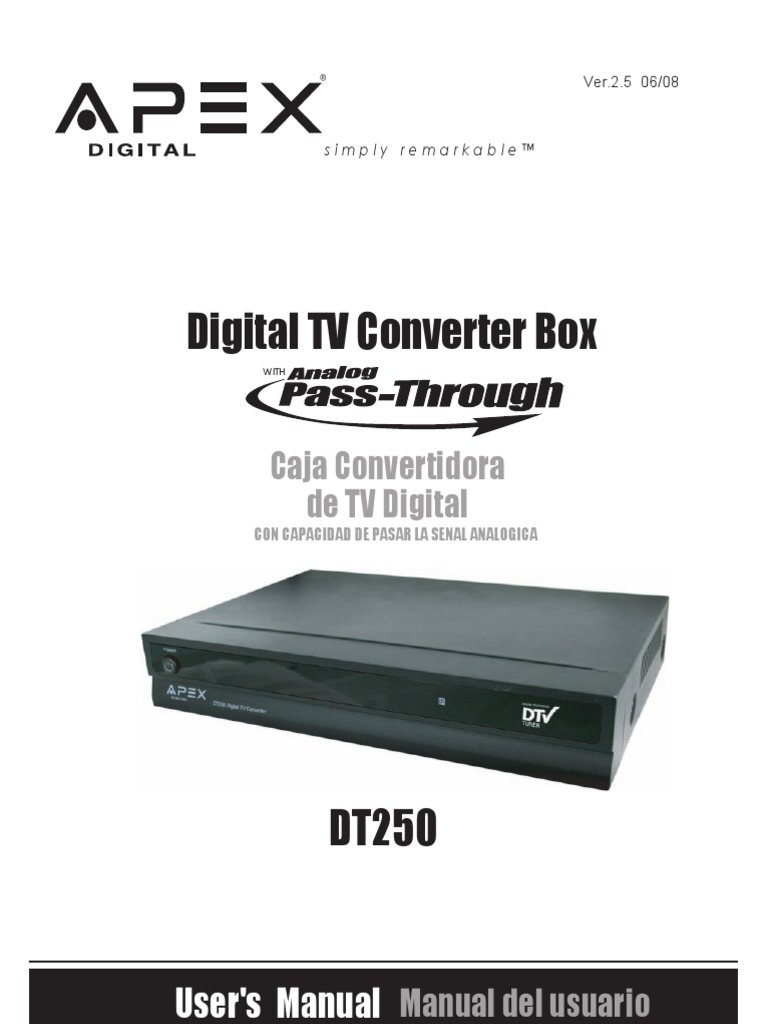 apex dt 250 rh scribd com Apex Digital Remote Apex Digital Remote