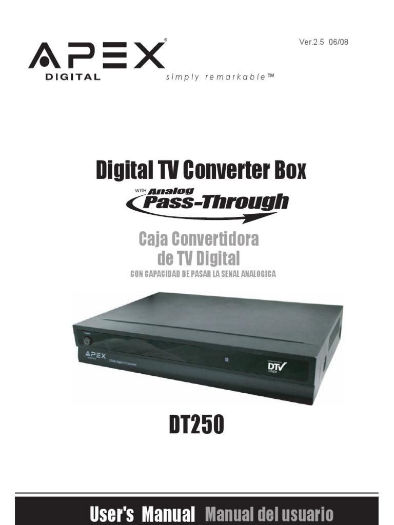 apex dt 250 rh es scribd com apex digital tv converter box dt504 manual apex digital tv converter box dt504 manual