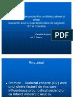 Particularităţi ale pacienţilor cu diabet zaharat şi infarct