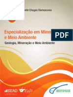 LIVRO GEOLOGIA MINERAÇÃO E MEIO AMBIENTE