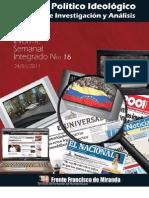 Informe Semanal Integrado nº16