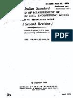 1200 -Part 6 - Measurement of Bldgs & Civil Engg Wo