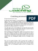 Coatching personnalisé